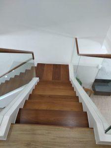 Burmese Teak Wood Stair Treads and Handrails @ 123 Potong Pasir Avenue 1
