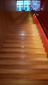 American White Oak Staircase at Virgin Active