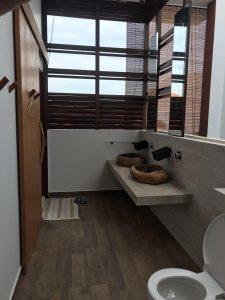Bathroom Privacy Wall at Happy Avenue