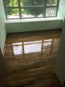Burmese Teak Flooring at Trevista