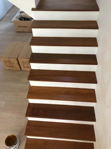 Burmese Teak Stair Treads at 104A Ang Mo Kio Street 11