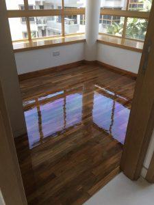 Burmese Teak Wood Flooring at The Maylea