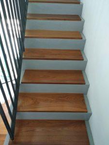 Burmese Teak Wood Stair Treads at Treelodge