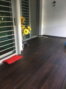 Chengal Wood Decking at Canberra Residences
