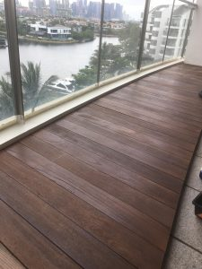 Chengal Wood Decking at The Coast