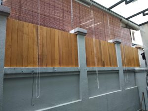 Timber Privacy Fence at 31 Park Villas Terrace