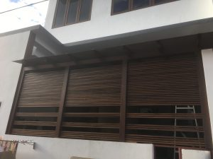Wood Privacy Wall at Happy Avenue