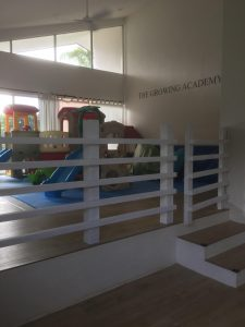 Wood Safety Fence for Children at The Growing Acedemu