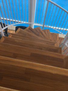 Teak Stairs at Kovan Melody