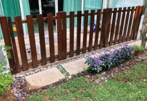 Wood Fencing at 203 Sunrise Terrace