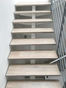White Wash Wood Stairs at Jalan Usaha