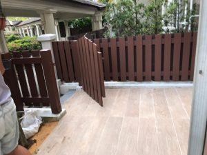 Timber Fencing at Parc Vista