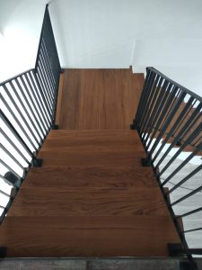 Burmese Teak Wood Stairs @ 125 Tampines Street 11