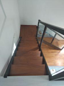Burmese Teak Wood Stairs @ Shelford Road